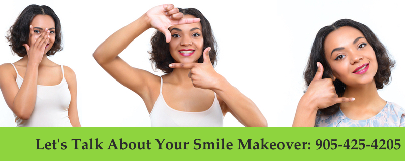 female model before and after smile makeover treatment